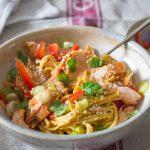 Sweet Chilli Salmon Noodles