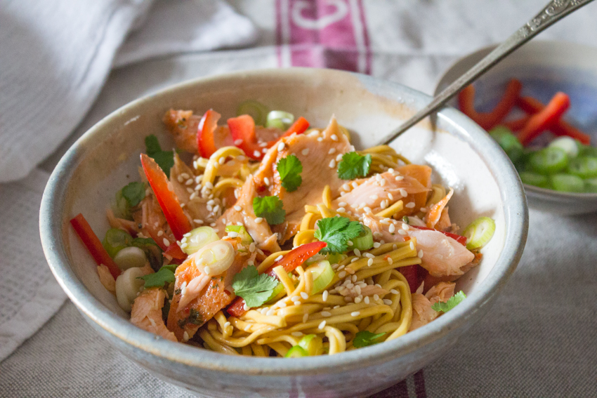Sweet Chilli Salmon Noodles