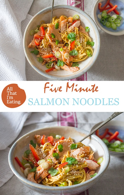 Five Minute Sweet Chilli Salmon Noodles