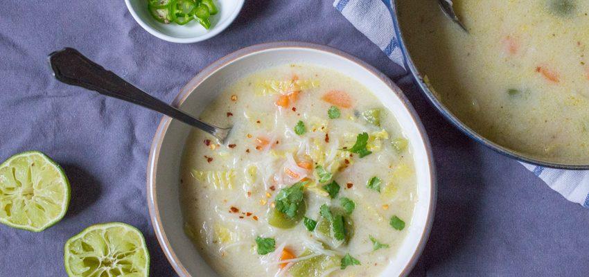Thai Vegetable Noodle Soup